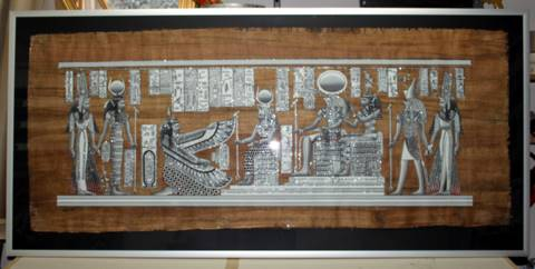 6 feet Papyrus Painting!